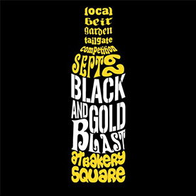Black and Gold Blast Event Logo