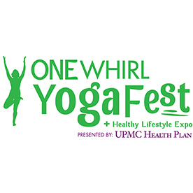One Whirl Yoga Fest + Healthy Lifestyle Expo. Presented by UPMC Health Place Logo