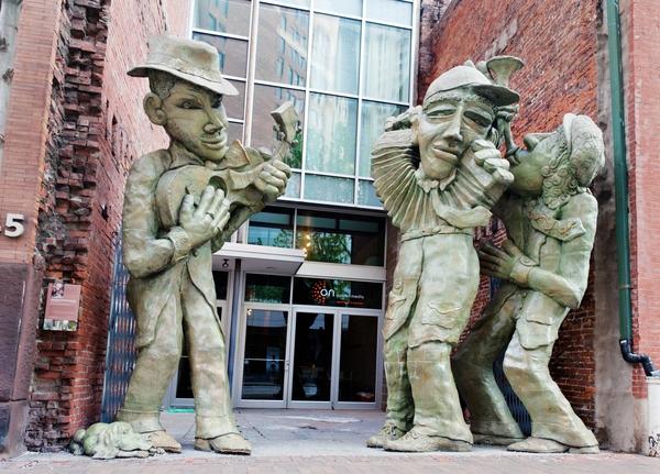 Liberty Avenue Musicians, public art sculptures by James Simon